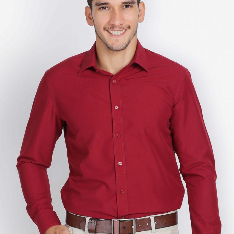 áo sơ mi nam dài tay màu đỏ