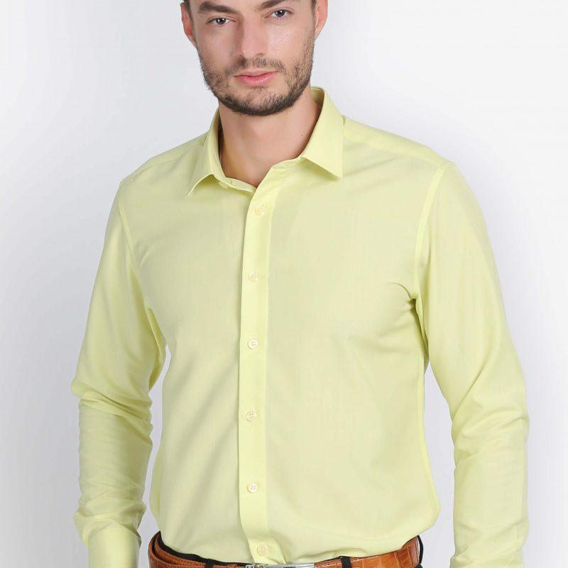 áo sơ mi nam dài tay vàng nhạt