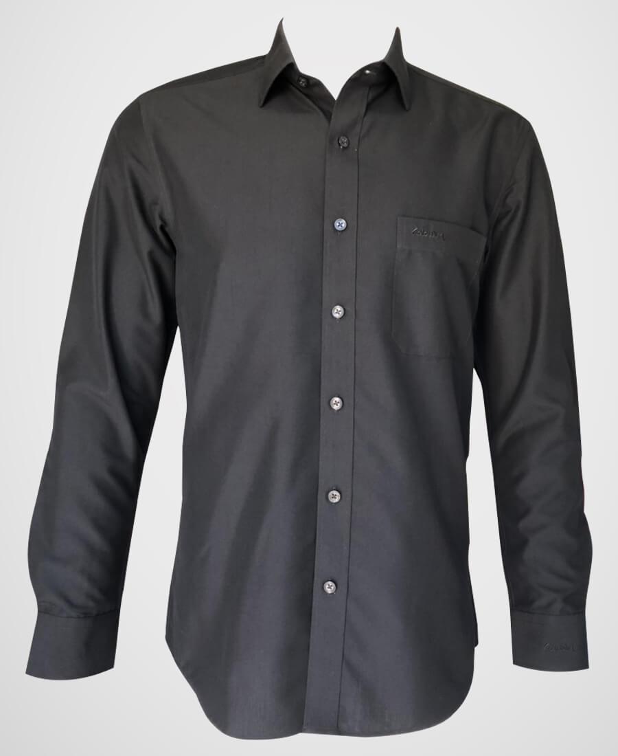 áo sơ mi nam dài tay màu đen trơn